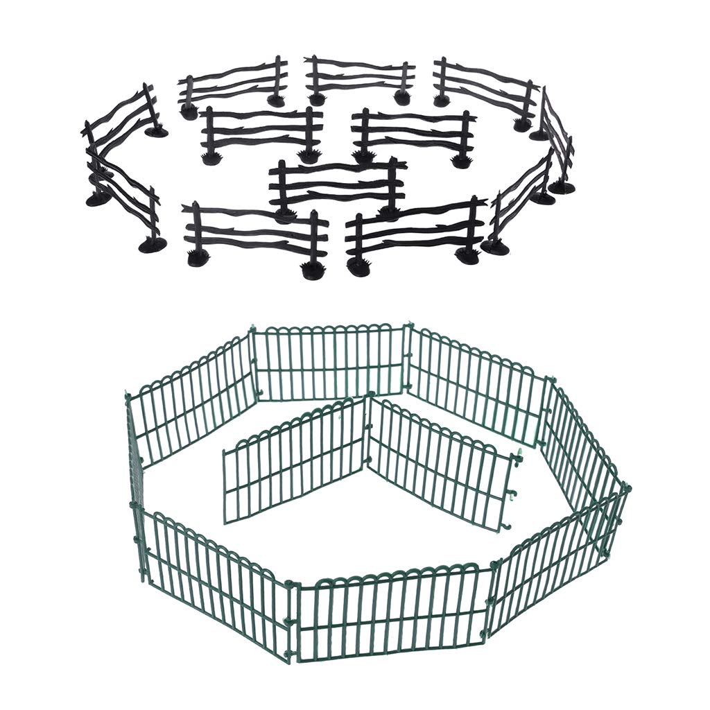 jigang 10Pcs Military Fence Sand Scene Model Toy Army Men Accessories Children Toys Gifts
