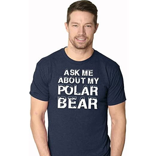 bc45f3360 Amazon.com: Ask Me About My Polar Bear T Shirt Funny Zoo Animal Flip ...
