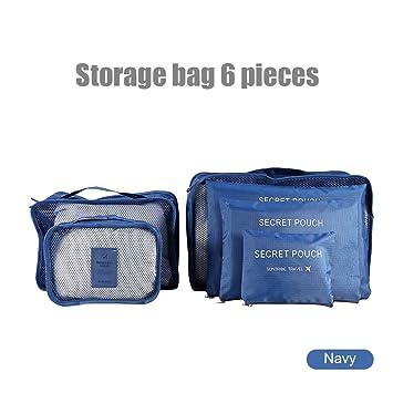 Amazon.com: 6pcs Juego de cubos de embalaje, poliéster ...