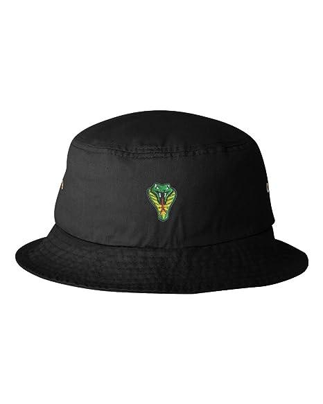ec2f3a217 Amazon.com: One Size Black Adult Cobra Embroidered Bucket Cap Dad ...