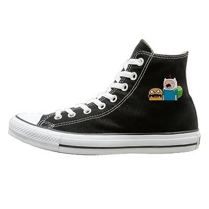d994e80d37 NFCGH Adventure Time Jake   Finn Canvas Shoes Sneakers Slip On Shoes 35  Black