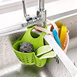 Ikea Bathroom Sink GreenSun(TM) 1PC Kitchen Sink Sponge Holder Bathroom Soap Hanging Shelving Rack Drain Faucet Storage Pail Shelves