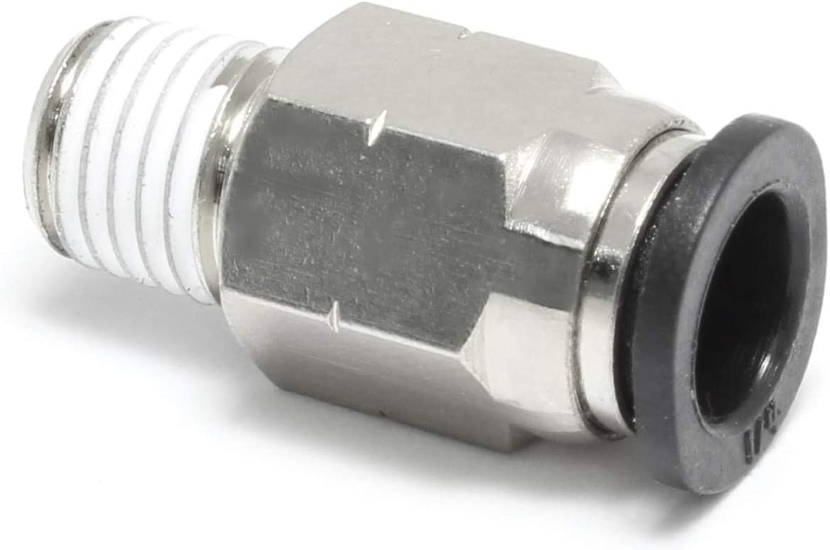 Push to Connect Straight Male Fitting 6 mm OD 1//4 NPT Thread