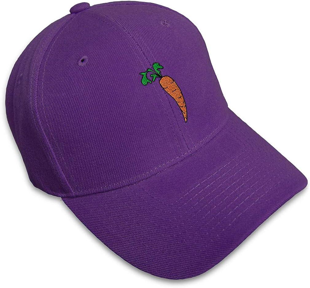 Custom Baseball Cap Carrot Embroidery Dad Hats for Men /& Women Strap Closure