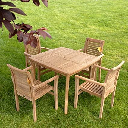 Fine Amazon Com New 5Pc Grade A Teak Outdoor Dining Set 40 Uwap Interior Chair Design Uwaporg