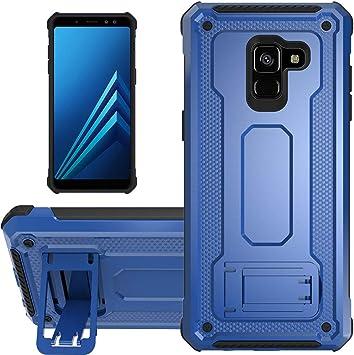 KUAWEI Coque Samsung Galaxy A8 2018 Slim Armure Series - Lourde Hybride Protège -Corps Complet Étui Protecteur Résistant Aux Chocs avec Housse de ...