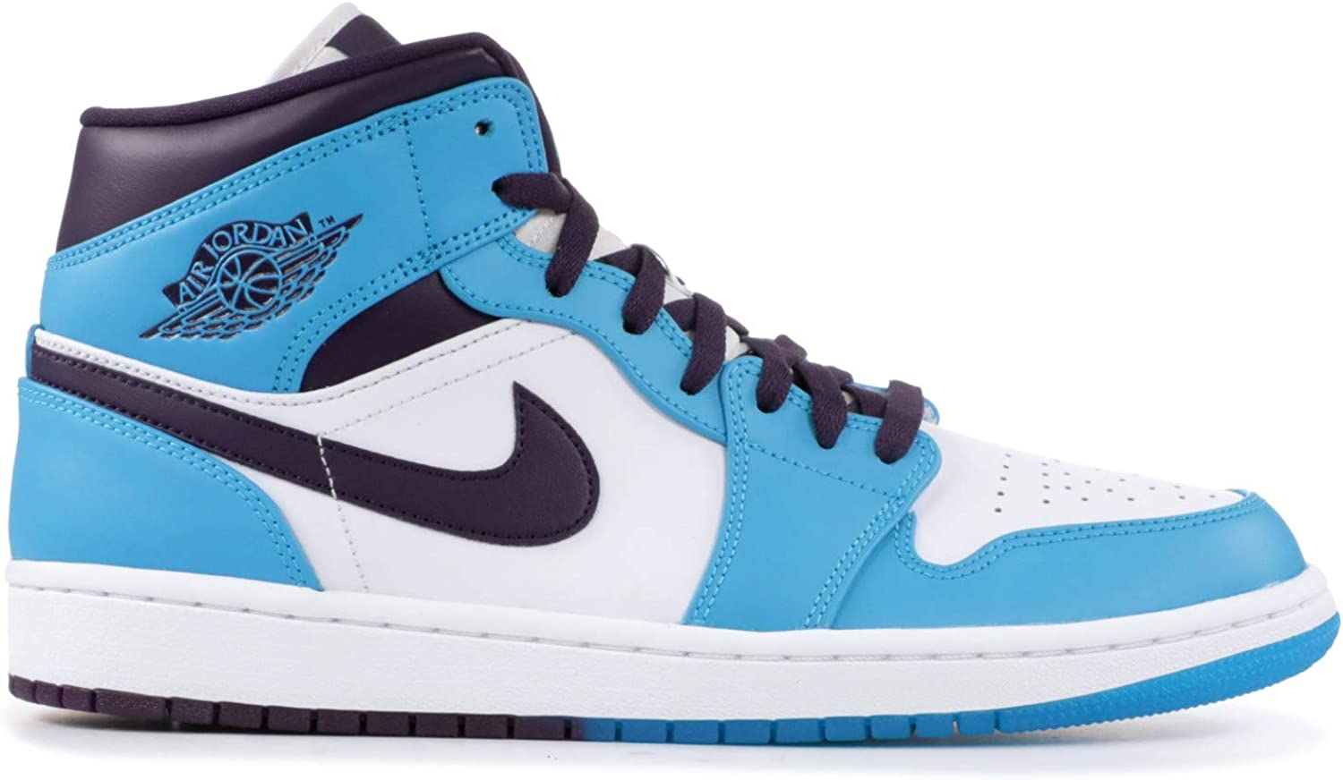 offer discounts top quality amazing selection Nike Air Jordan 1 Mid Chaussure Homme Bleu Lagon/Grand Violet ...