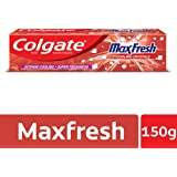 Colgate MaxFresh Anticavity Toothpaste Gel, Spicy Fresh - 150gm