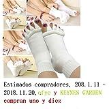 Malloom® nuevo dedos del pie alineación hombres mujeres calcetines de algodón tendón de estiramiento aliviar el dolor calcetines