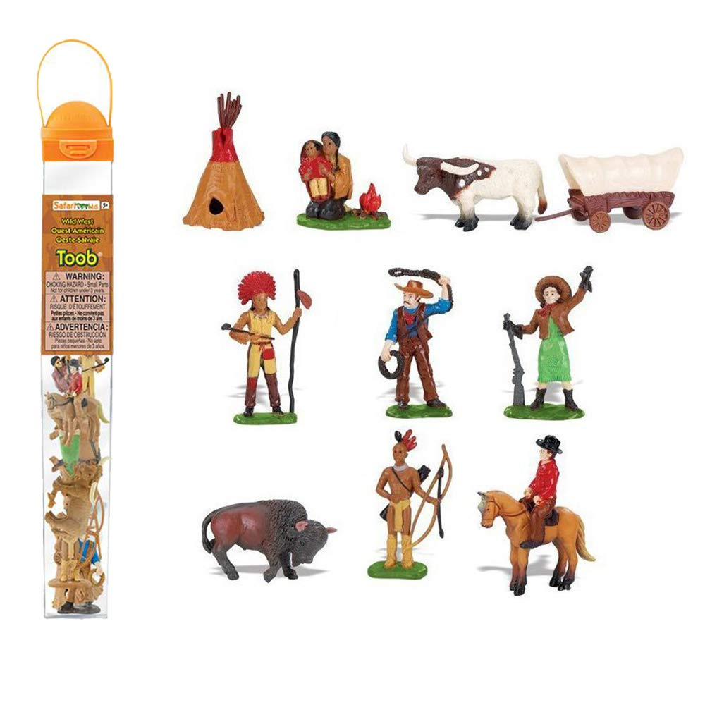 Safari Ltd Wild West TOOB -11 Hand Painted Toy Figurines