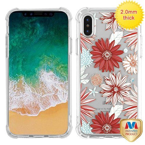 Candy Skin Case Cover - iPhone X/XS Case, Mybat Spring Daisies TPU Rubber Candy Skin Case Cover for Apple iPhone X/XS, Multi-Color