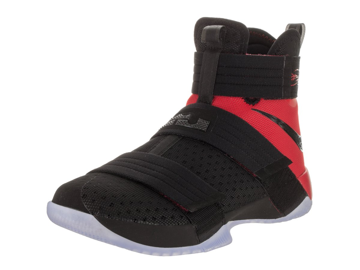 Nike Men's Lebron Soldier 10 SFG Black/Black University Red Basketball Shoe 12 Men US