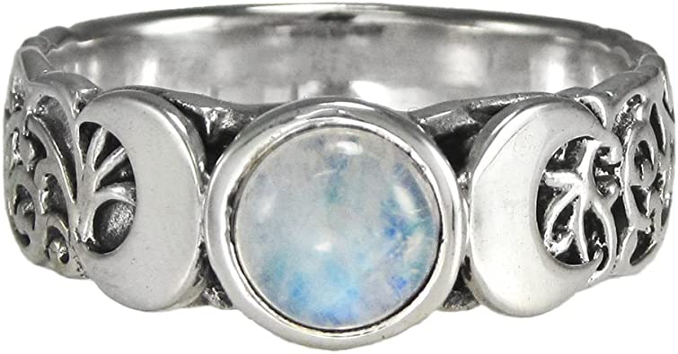 Sterling Silver Crescent Moon Ring Size 4-15