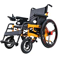 Intelligent Foldable Electric Wheelchair, Portable Lightweight Powered Wheelchair Suitable for Elderly Disabled Outdoor Sport Aid Car 24 Inches Big Wheel Wheelchair