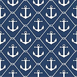 NuWallpaper NU1933 Set Sail Navy Peel and Stick Wallpaper