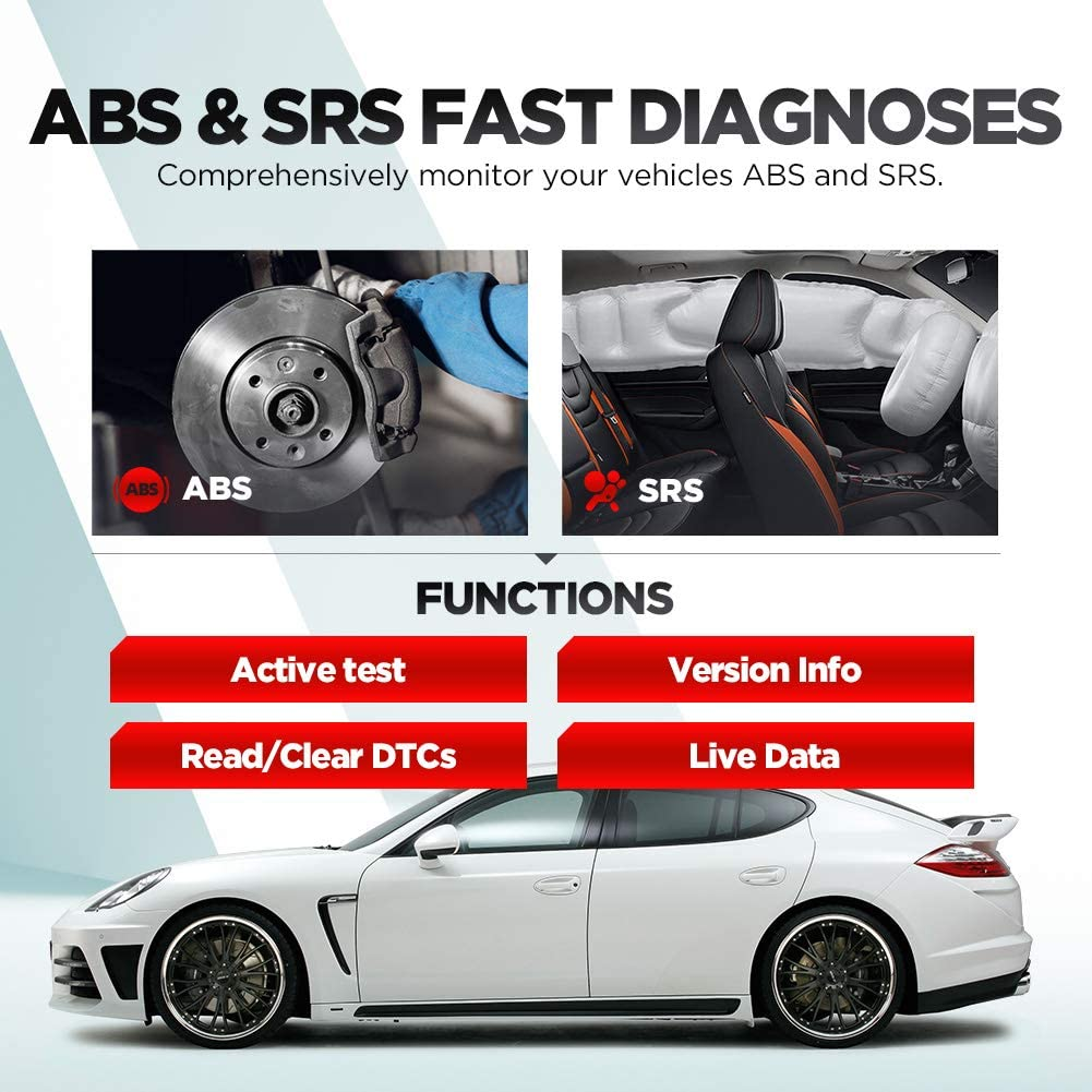 Oil//SAS Reset Lifetime Update Launch CR629 OBD2 Scanner Car Code Reader with Active Tests Full OBD2 Functions scan Tool for DIYers ABS /& SRS Diagnostic Tool