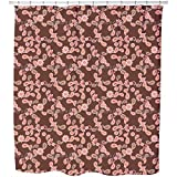 Uneekee Paisley In Brown Shower Curtain: Large Waterproof Luxurious Bathroom Design Woven Fabric