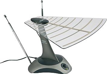 Philex SLX Gold digiTop - Antena para interior de alto rendimiento para televisores (UHF/Freeview), radio FM, radio digital terrestre y banda ancha ...