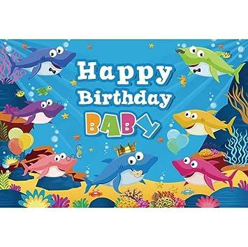Cassisy 1,5x1m Vinilo Telon de Fondo Feliz cumpleaños Baby ...