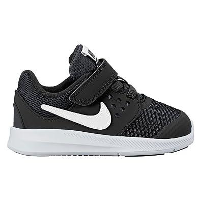 NIKE Baby Boy's Downshifter 7 Athletic Shoe (10 Toddler M, Black/White/