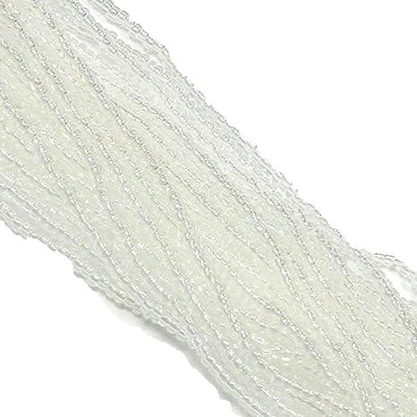 Czech 11//0 Transparent Glass Seed Beads 12-strand Hank 1