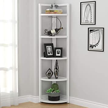 Amazon.com: Tribesigns 5 Tier Corner Shelf, Modern Corner ...