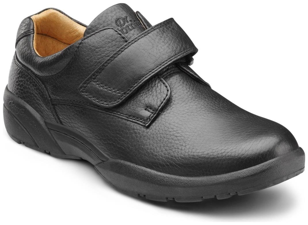 Dr. Comfort Men's William Black Diabetic Casual Shoes 10 4E US|Black