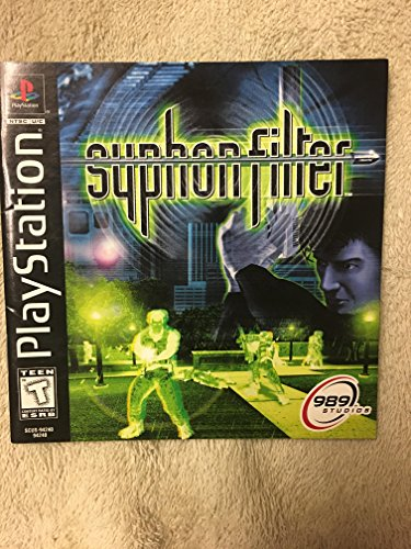 Syphon Filter PS1 Instruction Booklet (Sony Playstation Manual ONLY - NO GAME) Pamphlet - NO GAME INCLUDED