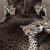 Beddinginn 4 Pieces 3d Bedding Sets Sexy Leopard Animal Print 400-thread-count Cotton Material Duvet Cover Set (Queen) offers