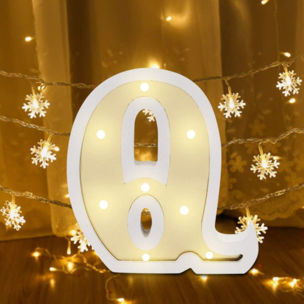 Blobboy - Letra LED con alfabeto, letras blancas de plástico ...