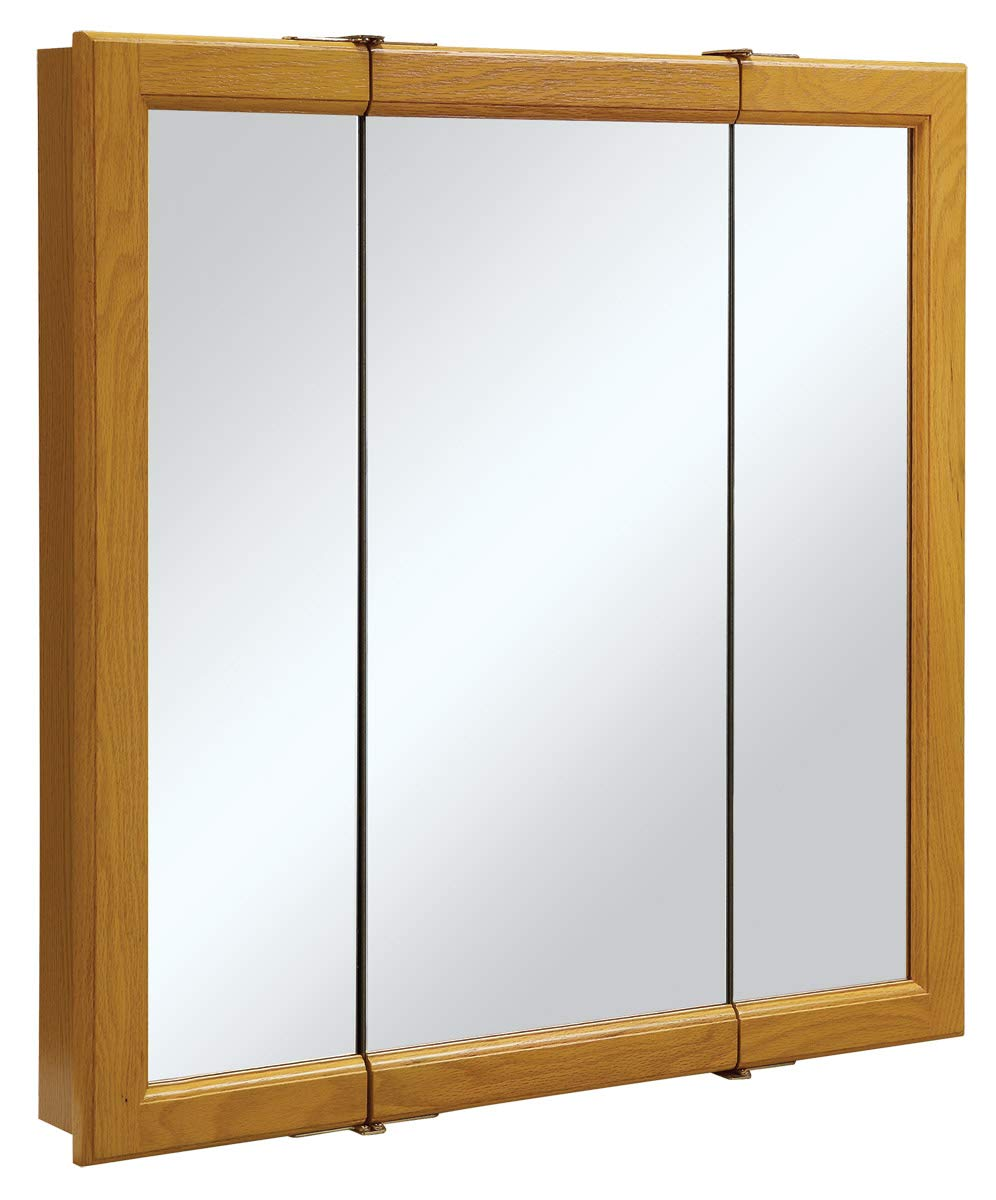Design House 545301 Mirrors Medicine Cabinets, 30 W x 30 H, Honey Oak