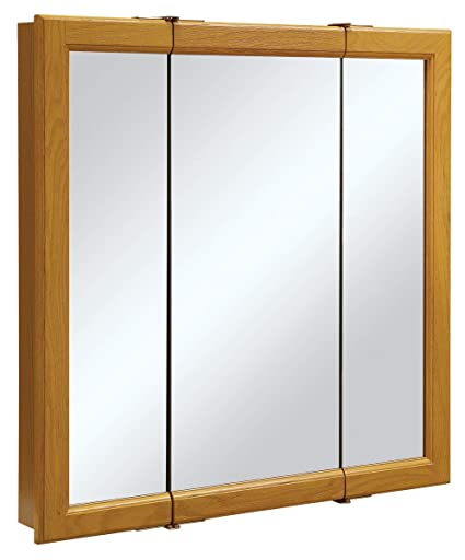 Merveilleux Design House 545301 Claremont Honey Oak Tri View Medicine Cabinet Mirror  With 3 Doors, 30 Inches By 30 Inches   Medicine Cabinets   Amazon.com