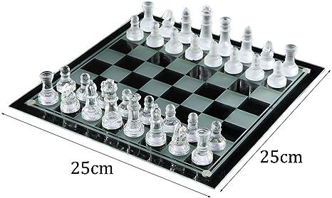 YC electronics Elegante Cristal de Cristal K9 Ajedrez de Lucha Embalaje Juego de ajedrez Juego de ajedrez de Damas Internacional Juego de ajedrez de Tablero Juegos al Aire Libre: Amazon.es: Hogar