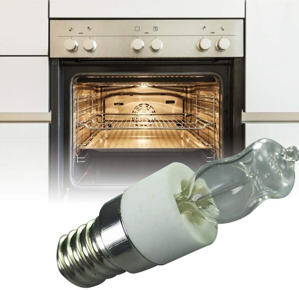 220 V 50 W Robeam E14 Halogen Backofenlampe Ofengl/ühbirne,Kleine Gl/ühlampe F/ür Mikrowelle//Backofen Hochtemperaturbest/ändiger Safe Trockner Mikrowelle Birne 110 V