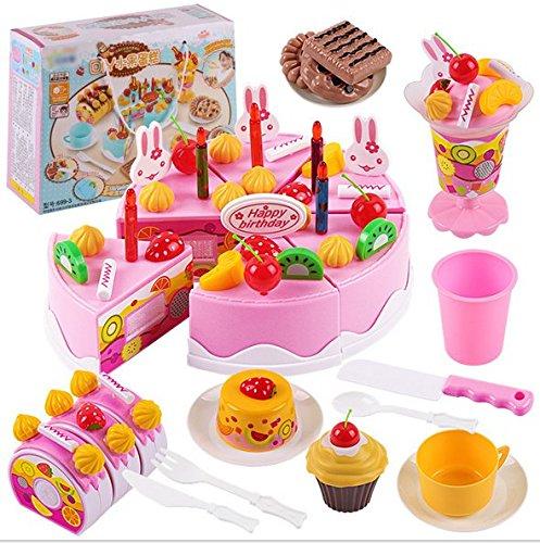 Doitsa Set de Lujo Pastel de Cumpleaños Juguetes Cortar ...