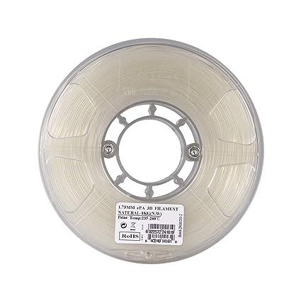 Deofficially eSUN ePA 1.75mm Nylon 3D Impresora Filamento 1kg (2.2 ...