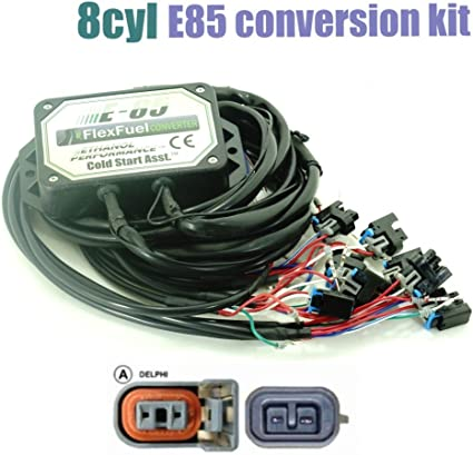 E85 ethanol kit flex fuel conversion kit 4//6//8cyl with Cold Start Asst.