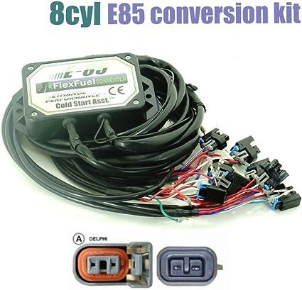 E85 ethanol kit flex fuel conversion kit 4//6//8cyl with Cold Start Asst.