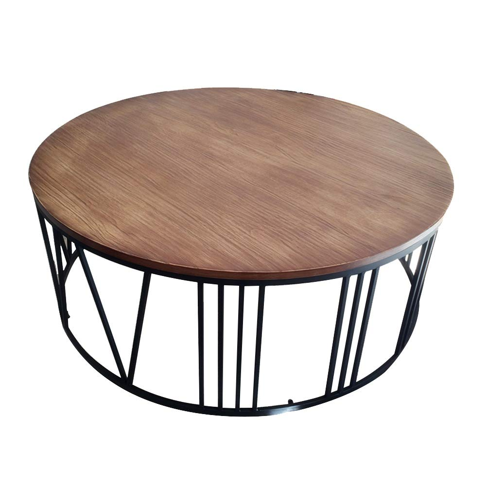 Tables ZR-Wall Side, Solid Wood Wrought Iron Painted Tea, Living Room Sofa Round Small, Snack (Size : 60x40cm)