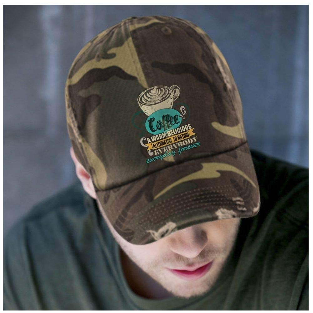 Delicious Coffee Hat A Warm Coffee District Distressed Dad Cap