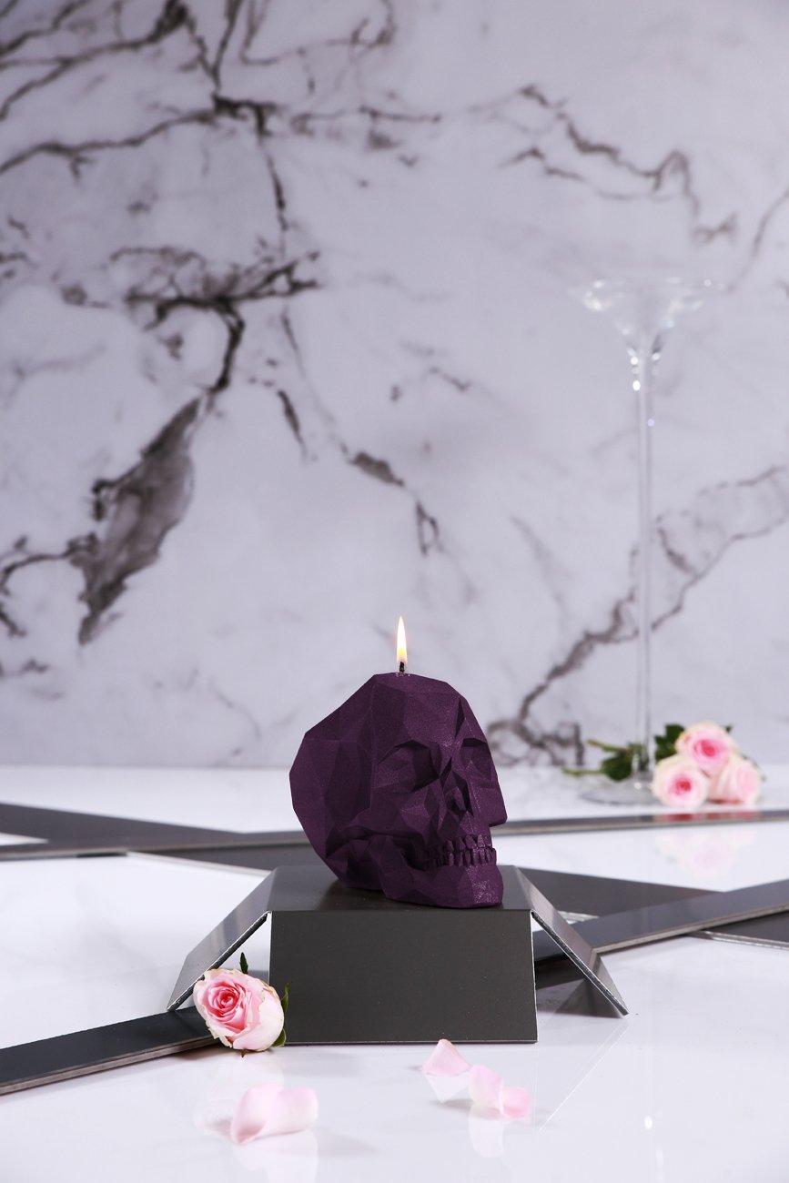 Candellana Candles Candellana- Skull Poly Candle-Violet,