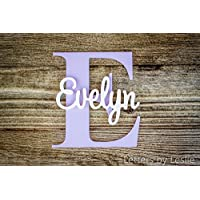 nursery name sign capital letter baby name plaque personalized nursery baby name wall hanging nursery