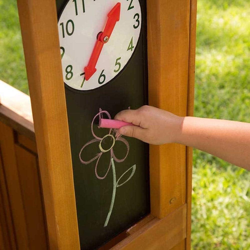 KidKraft 405 Casita de juegos para jardín y exterior al aire libre de madera para niños Garden Viewmcon pizarra, maceta y toldo de estilo cafetería: Amazon.es: Juguetes y juegos