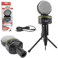 Microfone Condensador Multimídia Estúdio Tripé Adaptador P3