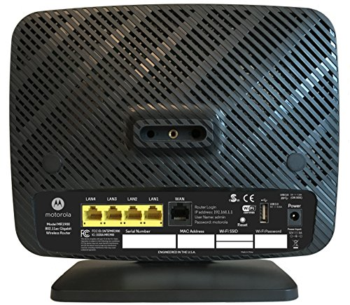 MOTOROLA AC1900 Router for Charter Spectrum, Smart Wi-Fi Gigabit Router with Power Boost, Model MR1900-CH by Motorola (Image #1)