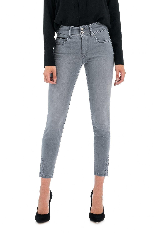 Pantalones Secret Capri con brillo para mujer Salsa Jeans