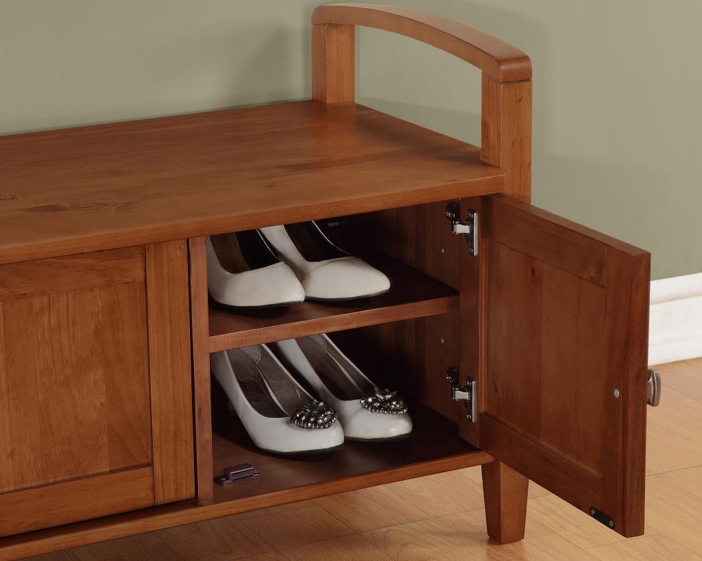 Amazon Com Simpli Home Warm Shaker Entryway Storage Bench