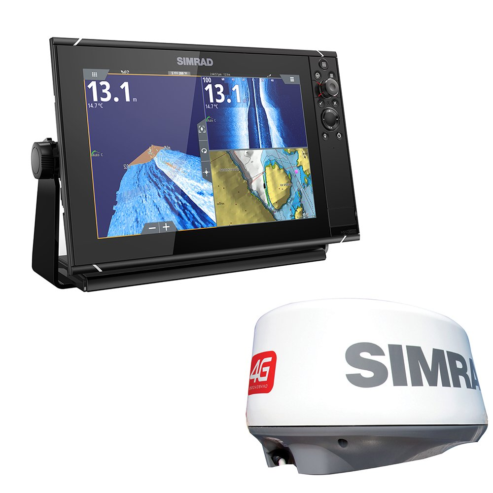 Simrad NSS12 EVO3 Radar Bundle Insight 4G Dome