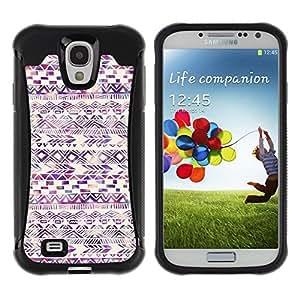 Suave TPU GEL Carcasa Funda Silicona Blando Estuche Caso de protección (para) Samsung Galaxy S4 IV I9500 / CECELL Phone case / / American Pattern Watercolor Purple /