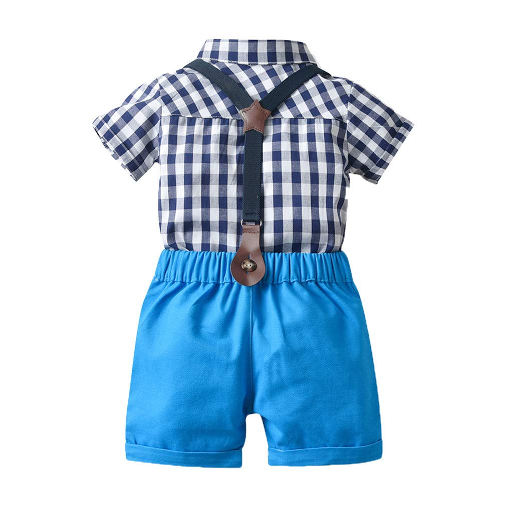 Sanaghy Baby Jungen 2 St/ücke Taufe Anz/üge Bowtie Shirt Top Hosentr/äger Strap Shorts Formale Kinder Party Outfit Gentleman Kleidung Sets 0-24 M